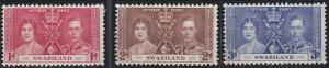 Swaziland 24-26 MNH (1937)
