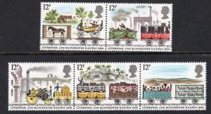 Great Britain #904-908 1980 MNH   railway  complete