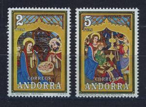 ANDORRA SPANISH 1973 MNH SC.77/78 Christmas