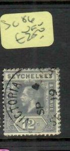 SEYCHELLES  (P2705B)   KGV   12C      SG  86        VFU