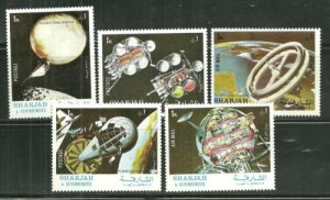 Sharjah MNH Set Of Space Exploration