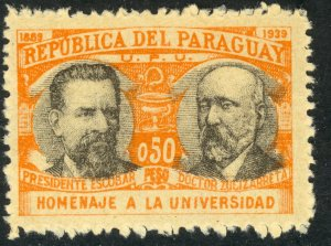 PARAGUAY 1939-40 50c University of Asuncion Issue Sc 351 MLH