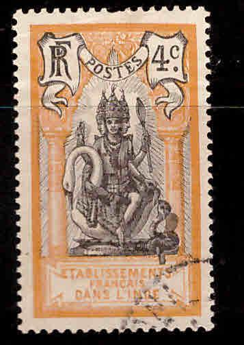 FRENCH INDIA  Scott 29 Used Brahma stamp
