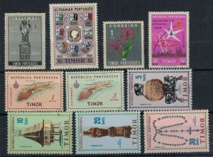 Timor collection of 10 all different mint stamps