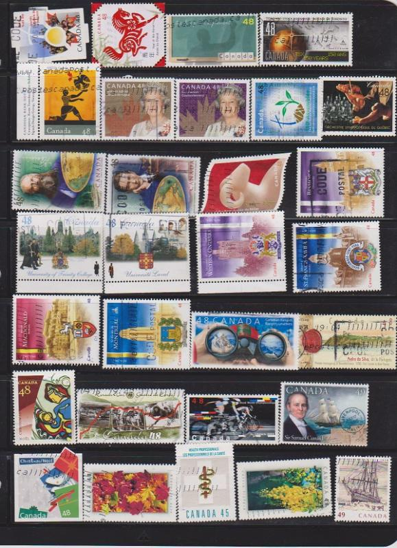 LOT OF DIFFERENT STAMPS OF CANADA USED(30) LOT#319