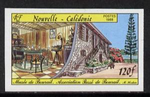 New Caledonia 1988 Bourail Museum 120f imperf from limite...