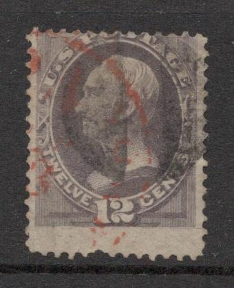 US#151 Dull Violet - Black and Red Cancels