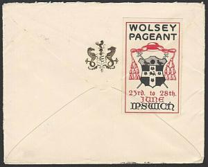GB 1930 cover ex Ipswich with WOLSEY PAGEANT Cinderella.....................6400