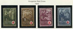 HUNGARY SCOTT#B144/47   MINT NEVER HINGED AS SHOWN--SCOTT VALUE $5.60