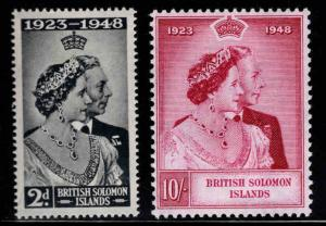 British Solomon Islands Scott 82-83 MNH** Silver Wedding Issue of 19498