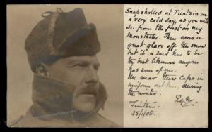 UK British 1908 China Soldier CEF Real Phioto RPPC Navy TIENTSIN Feldpost  91056
