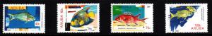 Aruba MNH Scott #248-#251 Set of 4 Fish: Parrotfish, Angelfish, Squirrelfish,...