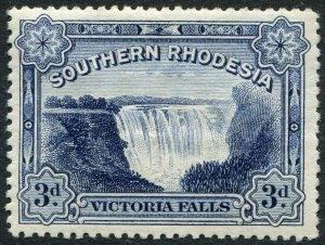 SOUTHERN RHODESIA-1932 3d Deep Ultramarine Sg 30 MOUNTED MINT V48909