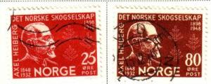Norway Sc 292-3 1948 Heiberg Forestry stamps used