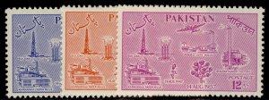 PAKISTAN QEII SG92-94, complete set, M MINT.