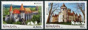 HERRICKSTAMP NEW ISSUES ROMANIA Sc.# 5932-33 EUROPA 2017 Castles