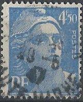 France 541B (used) 4fr50 Marianne, ultra (1947)