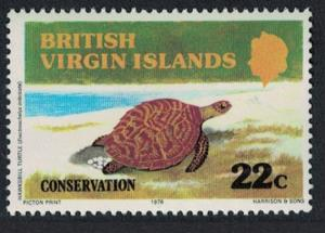 BVI Hawksbill Turtle Wildlife Conservation 1v SG#399