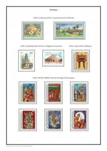 INDIA 1852-2021 PDF (DIGITAL) STAMP ALBUM PAGES