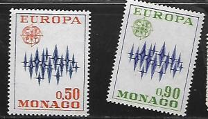MONACO, 831-832, MNH, EUROPA 1972