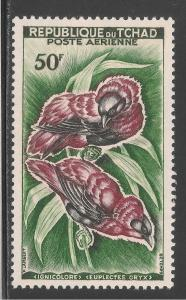 Chad #C2 (AP1) VF MNH - 1961 50fr Red Bishops - Birds In Pairs