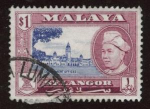 MALAYA Selangor Scott 110 used stamp