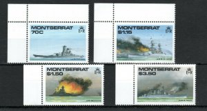 Montserrat 1990 world War II Capital Ships MNH
