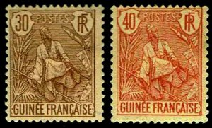 1904 French Guinea #26-27 - OGHR  - F/VF - CV$53.50 AS VF (ESP#3174)