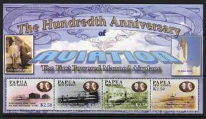 Papua New Guinea MNH S/S 1088 Aviation Powered Flight SCV 9.00