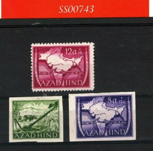 India PROPAGANDA STAMPS Cinderellas{3} *AZAD HIND* MM WW2 Unused {samwells}SS743