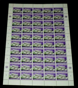 U.N. GENEVA #37, 1974, I.L.O. HEADQUARTERS ISSUE, SHEET/50, MNH, NICE!! LQQK!!
