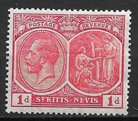 1921 St.Kitts-Nevis 38 Columbus Looking at Land/ King George V  1p MH