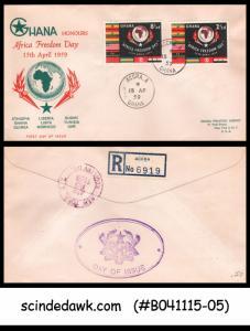 GHANA - 1959 AFRICA FREEDOM DAY - 2V - FDC REGISTERED