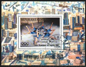 Central African Republic. 1984. bl275. Los Angeles Summer Olympics. USED.