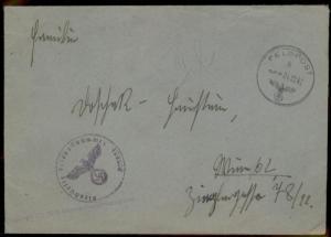 3rd Reich April 1943 Deutsches Afrikakorps DAK Feldpost Cover to Vienna 60446