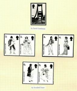 GB QEII STAMP DESIGN Original 1966 *Photographic Essays*{7} COSTUME BRIDGE AG296