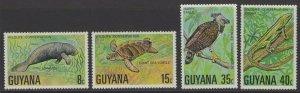 GUYANA SG685/8 1976 WILDLIFE CONSERVATION MNH