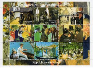 Chad 2001 The famous French Impressionists Sheetlet(9) Perforated MNH