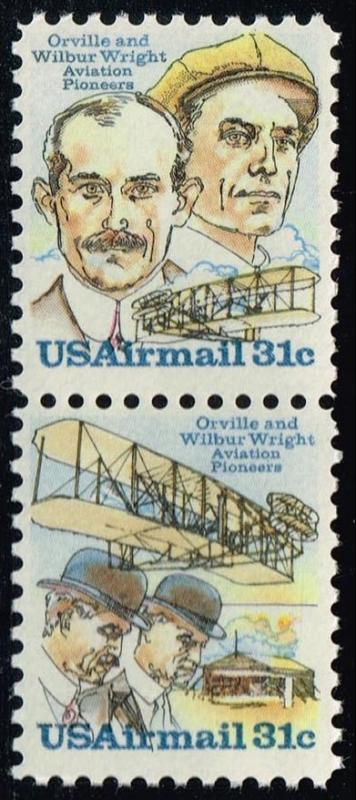 US #C92a Wright Brothers Se-tenant Pair; MNH (1.30)