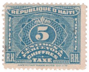 (I.B) Haiti Revenue : Postal Tax 5c
