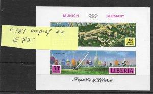 Liberia #C187 Imperf MNH - Souvenir Sheet