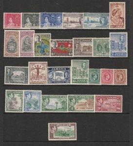 Jamaica a small mint lot KGVI era