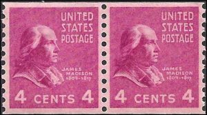 843 Mint,OG,LH... Pair... SCV $16.50... VF/XF