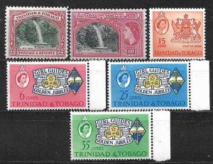 COLLECTION LOT OF 6 TRINIDAD & TOBAGO MH 1935+ STAMPS CV+$73 2 SCAN