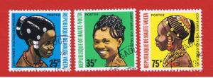 Burkina Faso #272-274  VF used  Women   Free S/H