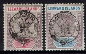 LEEWARD ISLANDS 1897 QV DIAMOND JUBILEE 1D AND 21/2D