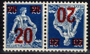 Switzerland #199a Tete-Beche Pair F-VF Unused  (P39)