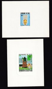FRANCE MALI DELUXE PROOFS x2 130Fr, 180Fr ONE DIE PROOF #36