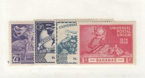 BAHAMAS # 150-153 VF-MH UNIVERSAL POSTAL UNION ISSUES