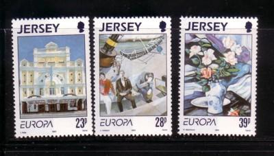 Jersey  Sc 631-3 1993 Europa Contemporary Art stamps mint NH